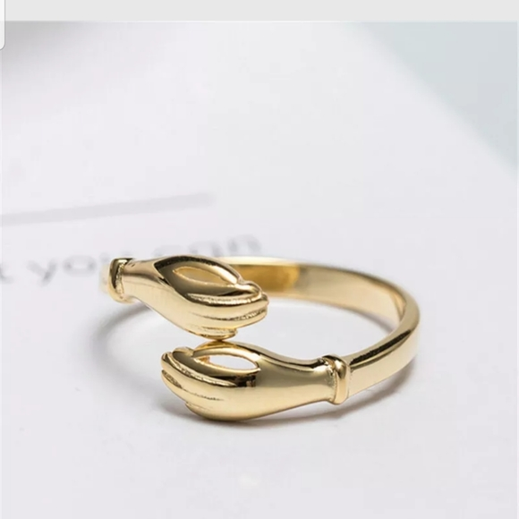 18k plated gold adjustable ring